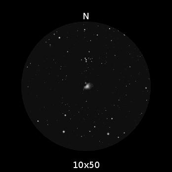 orion nebula through binoculars - photo #7